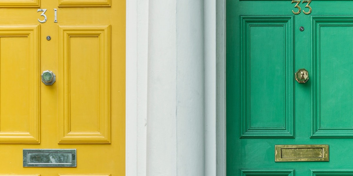YellowandGreenDoors